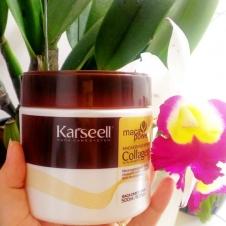 Kem Hấp Lụa Collagen Karseell Maca Siêu Mềm Mượt Tóc Ý 500ml