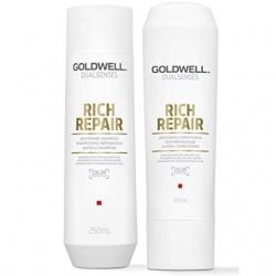 CẶP GỘI XẢ GOLDWELL RICH REPAIR CHỮA TRỊ TÓC HƯ TỔN 250ML (MỚI)