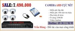 Trọn bộ 4 kênh camera
