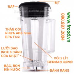 Bộ cối 2L cho máy xay sinh tố công nghiệp G5200