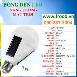 Bóng đèn LED năng lượng mặt trời 7w