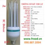 Bóng đèn LED 2U 3w E27