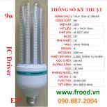 Bóng đèn LED 3U 9w E27