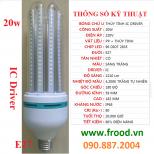Bóng đèn LED 4U 20w E27