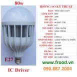 Bóng đèn LED siêu sáng 80w