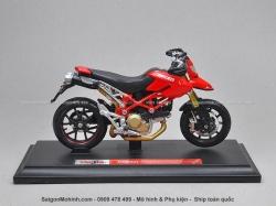 Mô tô 1/18 - Ducati Hypermotard - Đỏ - Maisto