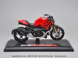 Mô tô 1/18 - Ducati Monster 1200S - Đỏ - Maisto