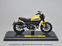 Mô tô 1/18 - Ducati Scrambler - Vàng - Maisto
