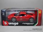 FERRARI 458 - 1/24 - Mô hình xe Ferrari 458 - Bburago - Đỏ