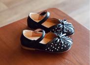 Giày búp bê trẻ em đính đá da MỀM