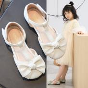 giày búp bê hở eo da mềm