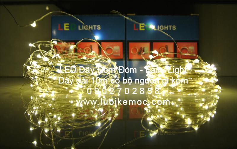 LED Dây Đom Đóm - Fairy Light  Dây dài 10m có bộ nguồn đi kèm 0 9 0 2 7 0 2 8 5 8 www.luoikemoc.com