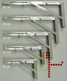 Bản lề gập thông minh INOX Stainless Steel 40cm