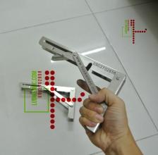 Bản lề gập thông minh INOX Stainless Steel 20cm