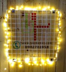 LED Dây Đom Đóm - Fairy Light 10mét có bộ nguồn đi kèm - Vàng Ấm