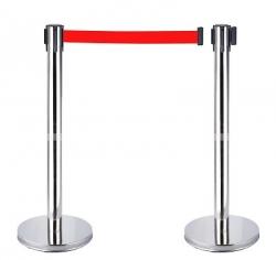 Cột chắn inox dây đỏ 5.0m