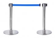 Cột chắn inox dây xanh 2.0m