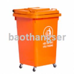 Thùng nhựa đựng rác 60 lít HITA - Có bánh xe