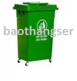 Thùng nhựa đựng rác 90 lít HITA - Có bánh xe