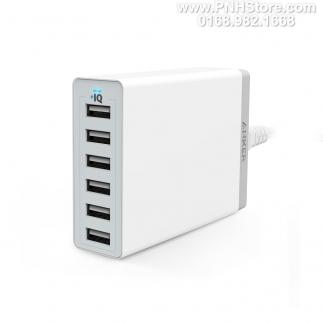 Bộ sạc Anker PowerPort 6 cổng USB 60W 1,5m