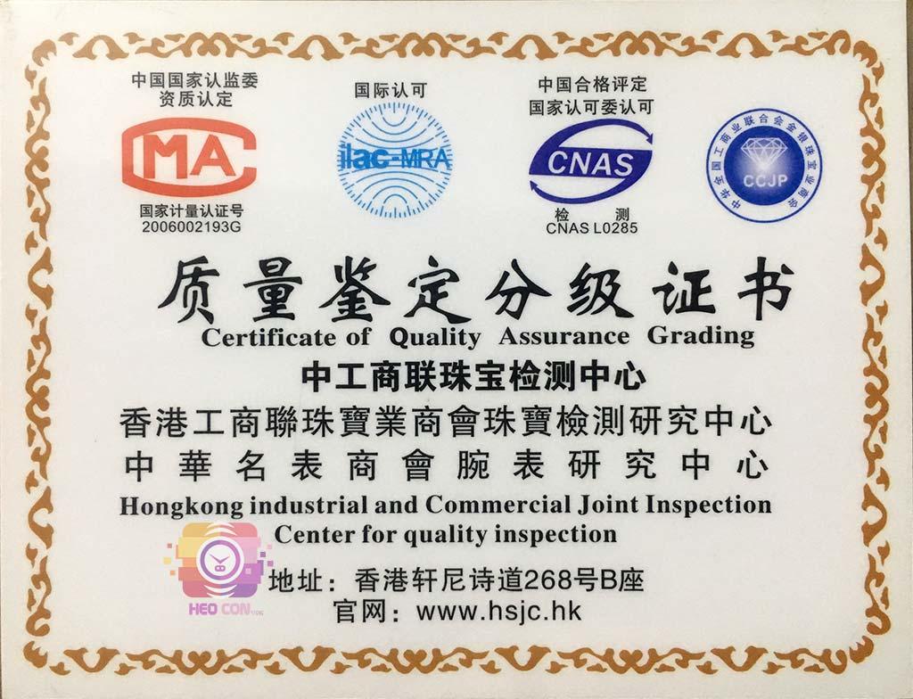 giấy đảm bảo chất lượng sản phẩm đồng hồ của Heo Con Store Phân phối