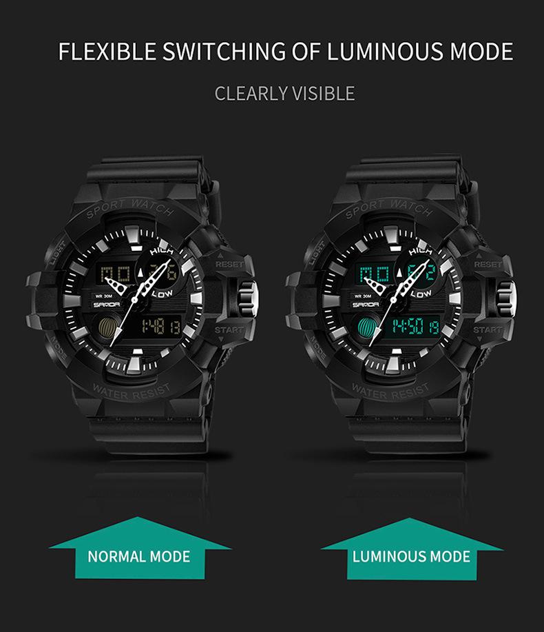 đồng hồ thể thao điện tử SANDA 780 chính hãng chống nước