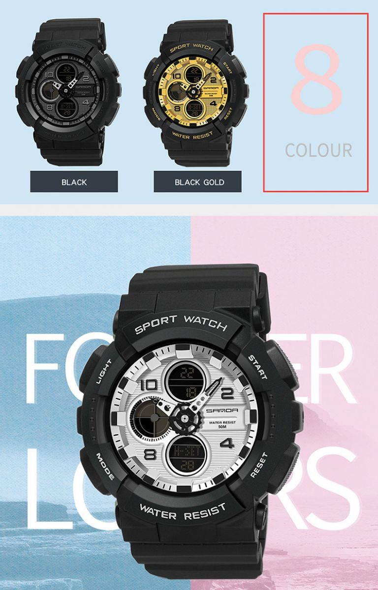 đồng hồ sanda 6027 nam nữ chính hãng