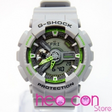 Đồng hồ G-Shock GA-110TS-8A3 Team Sports Grey Neon Green Replica