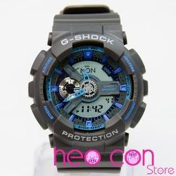 Đồng hồ G-Shock GA-110TS-8A2 Team Sports Grey Neon Blue Replica