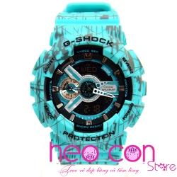 Đồng hồ G-Shock GA-110SL-3A Slash Pattern Turquoise Replica