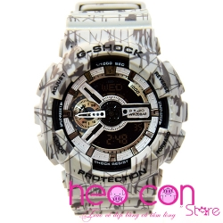 Đồng hồ G-Shock GA-110SL-8A Slash Pattern Grey Replica