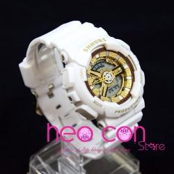 Đồng hồ Thể thao Điện tử SHHORS Nữ White Gold - Size 43mm