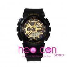 Đồng hồ Thể thao Điện tử SHHORS Nữ Black Gold - Size 43mm
