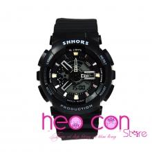 Đồng hồ Thể thao Điện tử SHHORS Nữ Đen Cá Tính - Size 43mm