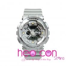 Đồng hồ Thể thao Điện tử SHHORS Nữ Màu Bạc - Size 43mm
