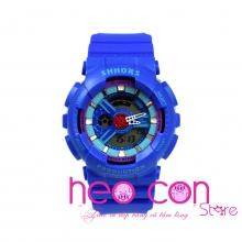 Đồng hồ Thể thao Điện tử SHHORS Nữ Xanh Dương - Size 43mm