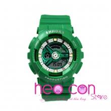 Đồng hồ Thể thao Điện tử SHHORS Xanh Starbuck - Size 43mm