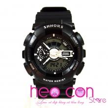 Đồng hồ thể thao SHHORS Full Black Cá Tính - Size 50mm