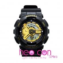 Đồng hồ Thể Thao SHHORS Nam Nữ Black Gold - Size 50mm