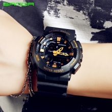 Đồng hồ Thể Thao SANDA Chính Hãng Chống Nước - #899 (Đen Gold)