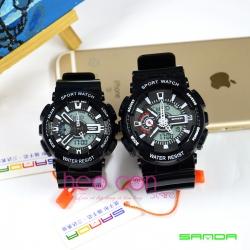 Cặp Đồng hồ Thể Thao SANDA Chính Hãng - 06 (Đen)