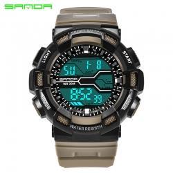 Đồng hồ Thể thao Điện Tử SANDA Chống Nước - 378 (Khaki)