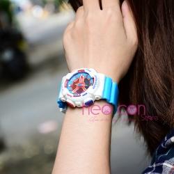 Đồng hồ Thể Thao Nữ SANDA Chống Nước - #292 (Trắng Xanh)
