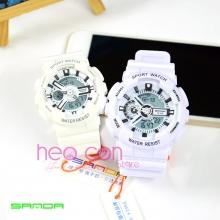 Cặp Đồng hồ Thể Thao SANDA Chính Hãng - 02 (Trắng)