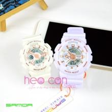 Cặp Đồng hồ Thể Thao SANDA Chính Hãng - 03 (Trắng Rose)