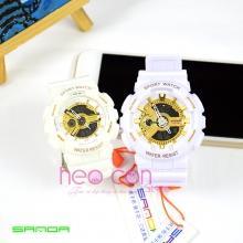 Cặp Đồng hồ Thể Thao SANDA Chính Hãng - 04 (Trắng Gold)