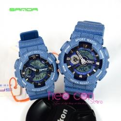 Cặp Đồng hồ Thể Thao SANDA Chính Hãng - 08 (Denim)