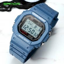 Đồng hồ Điện tử SANDA Mặt Vuông Chống Nước - 339G(Denim)