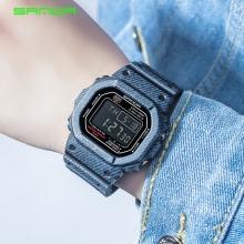 Đồng hồ Điện tử SANDA Mặt Vuông Chống Nước - 339G(Denim Đậm)