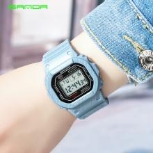 Đồng hồ Nữ SANDA Điện Tử Mặt Vuông 43mm - 294L(Denim Nhạt)